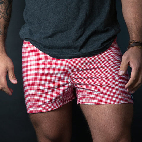 Pale Blue Circle Dot Print Boxer - Carly