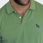 Green Cotton Pique Polo
