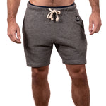 Varsity Grey French Terry Sweat Shorts Made in USA