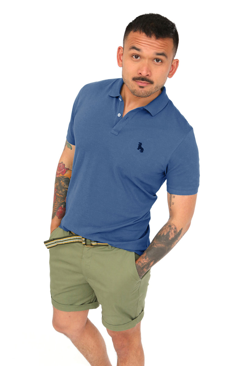 Air Force Blue Cotton Pique Polo
