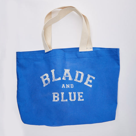Blade+Blue Tote Bag in Royal Blue