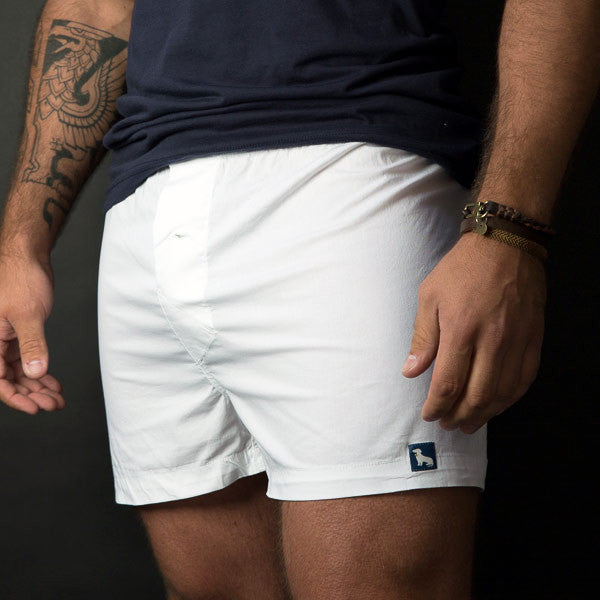 White Boxer Short MADE IN USA