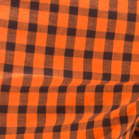 Orange & Black Check Boxer Short - Aaron
