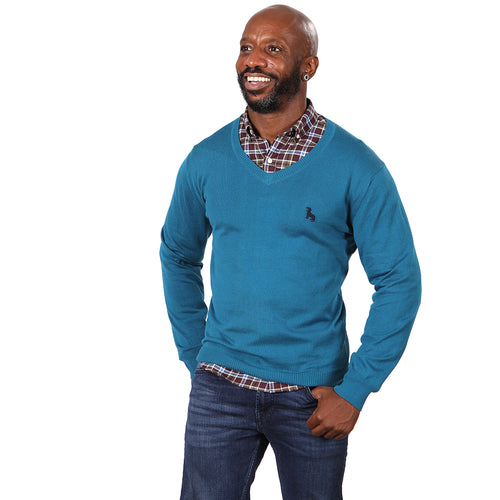 Aqua Blue V-Neck Sweater Size L Available