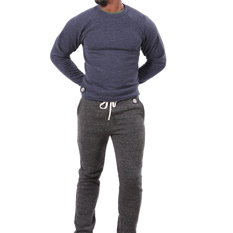 Charcoal Grey Marled Jogger Sweatpant - Made In USA