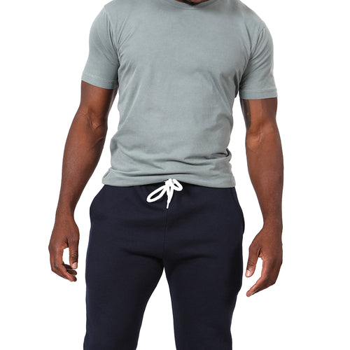 Solid Navy Blue Jogger Sweatpants Made in USA