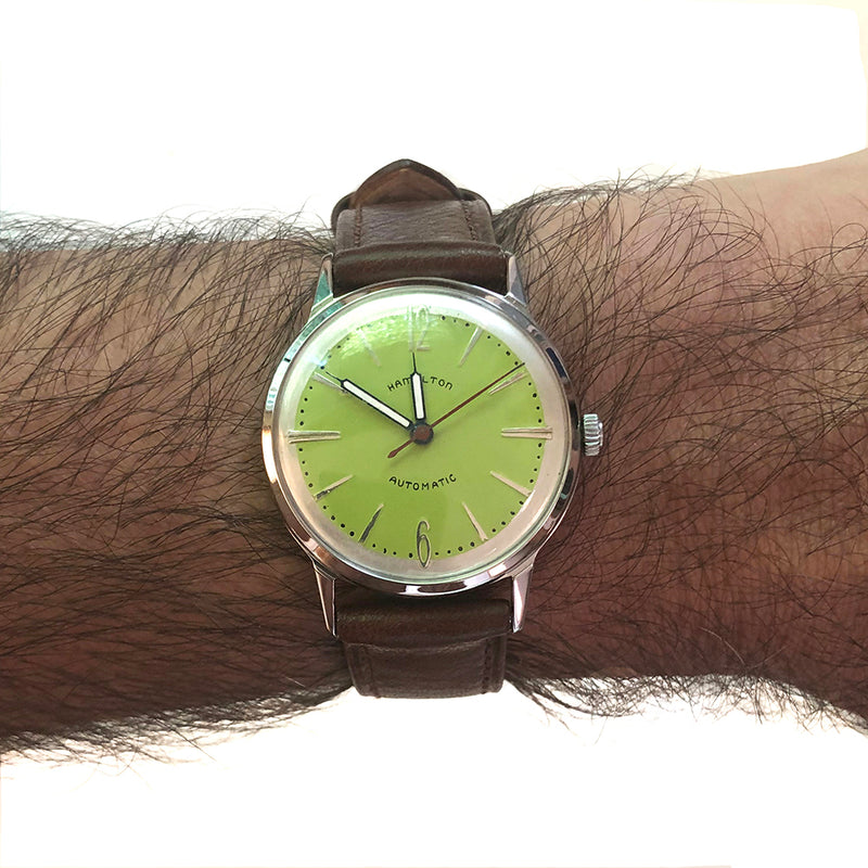 Vintage 1960's Hamilton Green Dial Automatic Watch