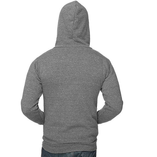 Light Grey Heather Marled Popover Hooded Fleece Sweatshirt - Made in USA