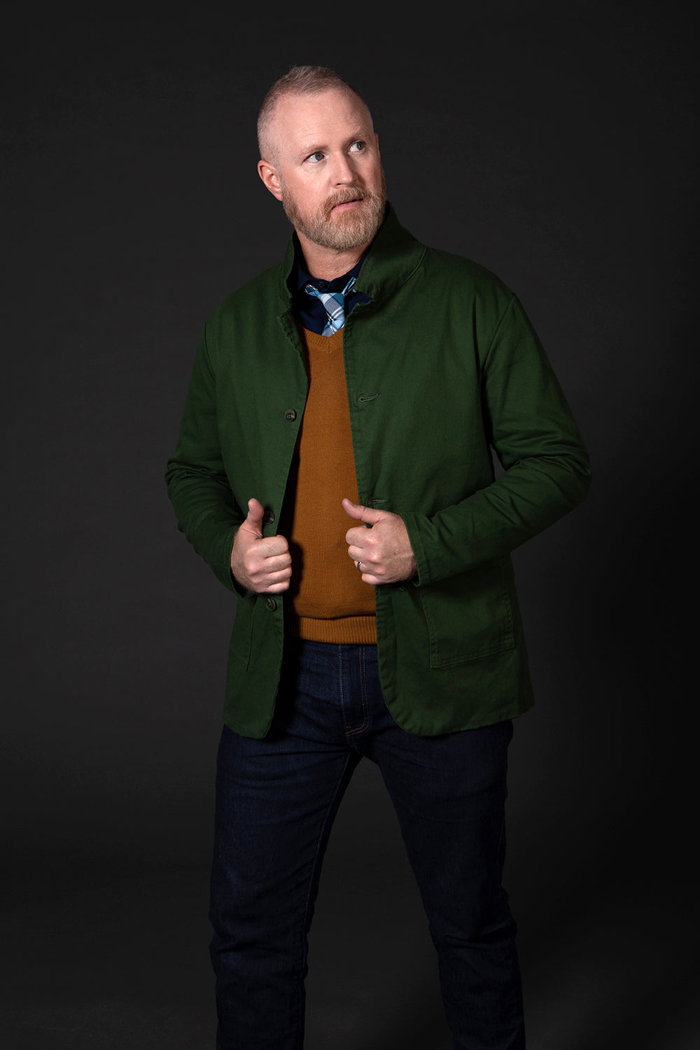 Limited Edition Basil Green Overdyed Blazer Jacket