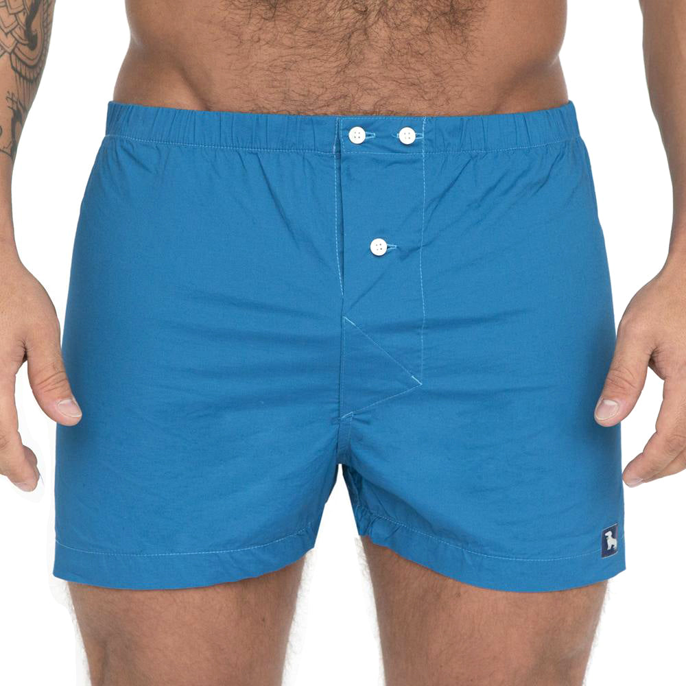Solid Aqua Blue Boxer Short
