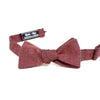 Solid Burgundy Chambray Bow Tie