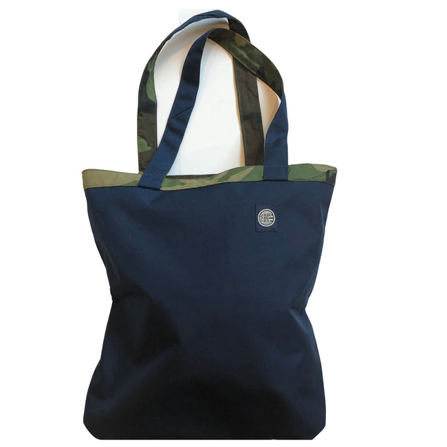 Royal Blue & Green Camouflage Reversible Mini Tote Bag