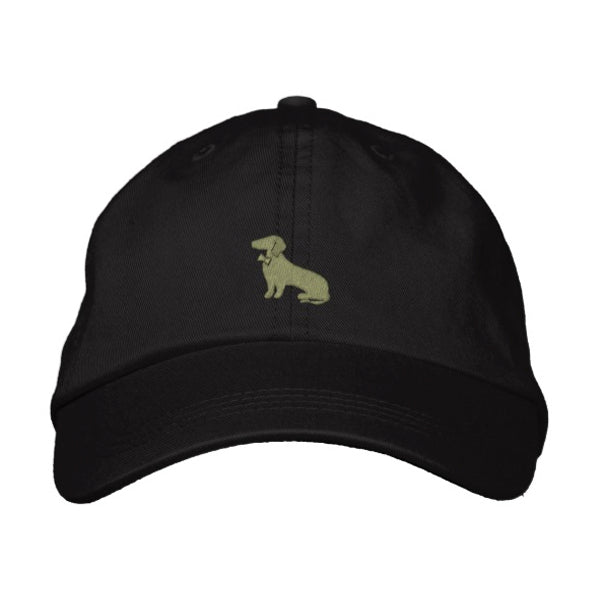 Black with Olive Green Dachshund Logo Baseball Cap - Mookie