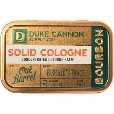 Duke Cannon Solid Cologne Bourbon Scent