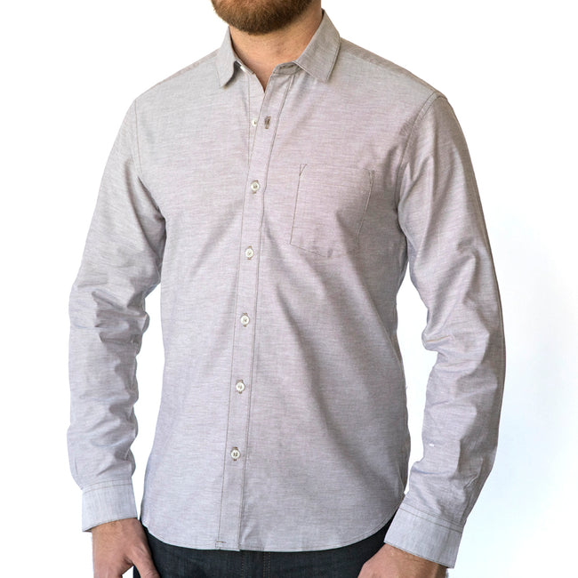 Textured Solid Oatmeal Shirt - DANTE  Size S Available