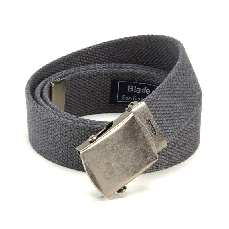 Medium Grey Cotton Web Military Belt