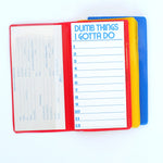"Vintage ""Dumb Things I Gotta Do"" Notebook Set"