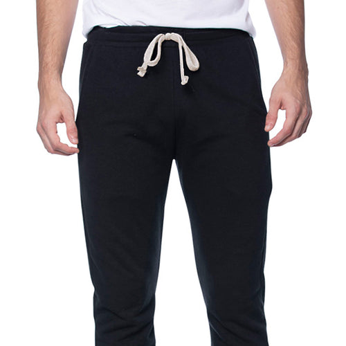 Shadow Black ECO-Friendly Organic Cotton / Recycled Poly Lightweight Jogger Sweatpants Made in USA