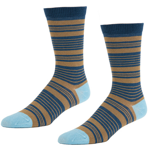 Slate Blue Fish Pattern Socks - back in stock!
