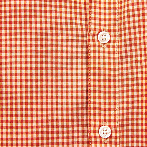 Tonal Orange Gingham Shirt - Phil