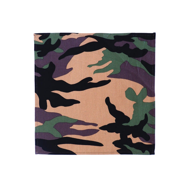 Green Camouflage Print Pocket Square