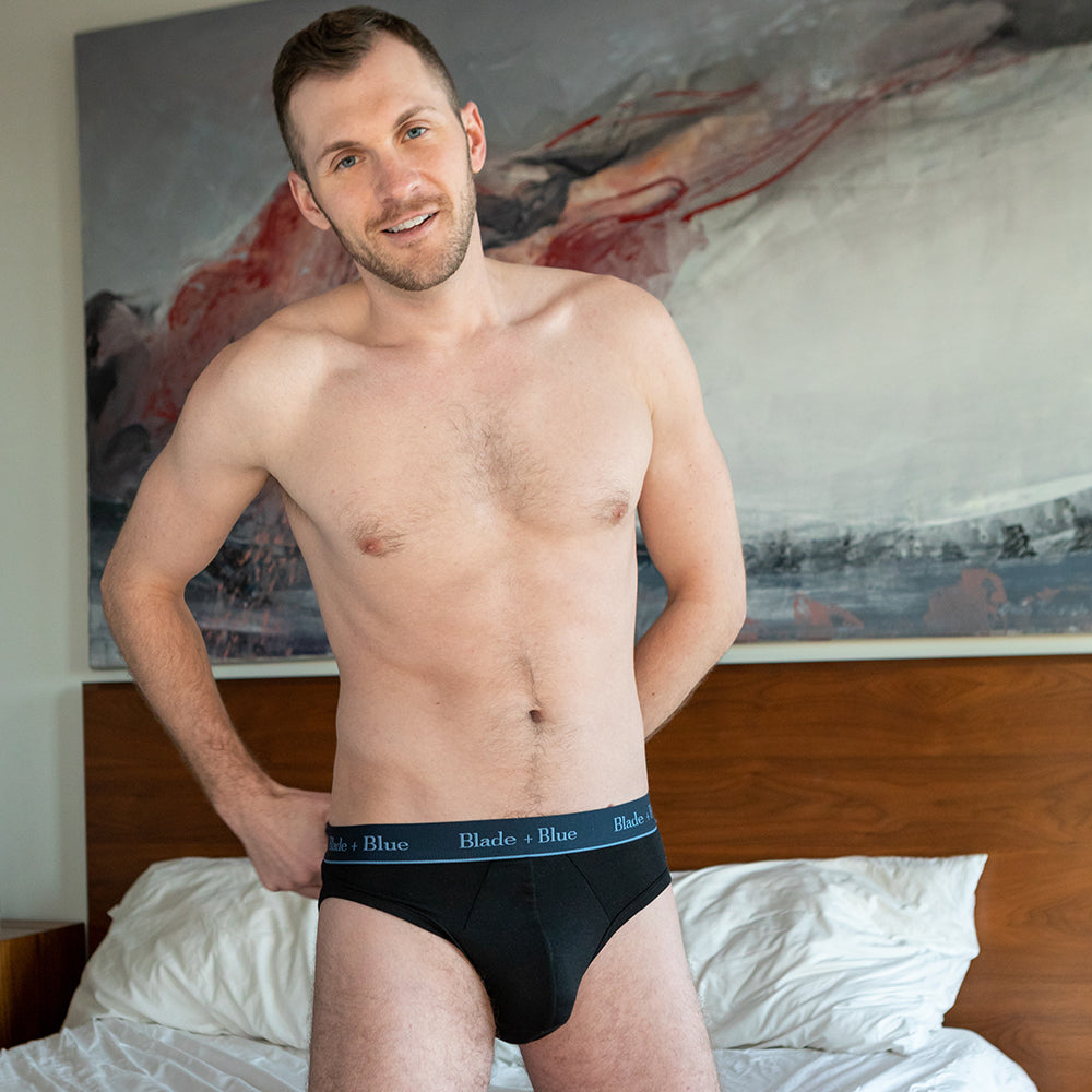 Black Low Rise Brief Underwear