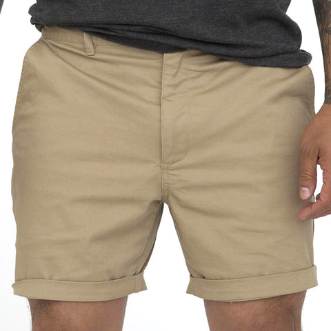 Navy Blue Cotton Stretch Twill Shorts