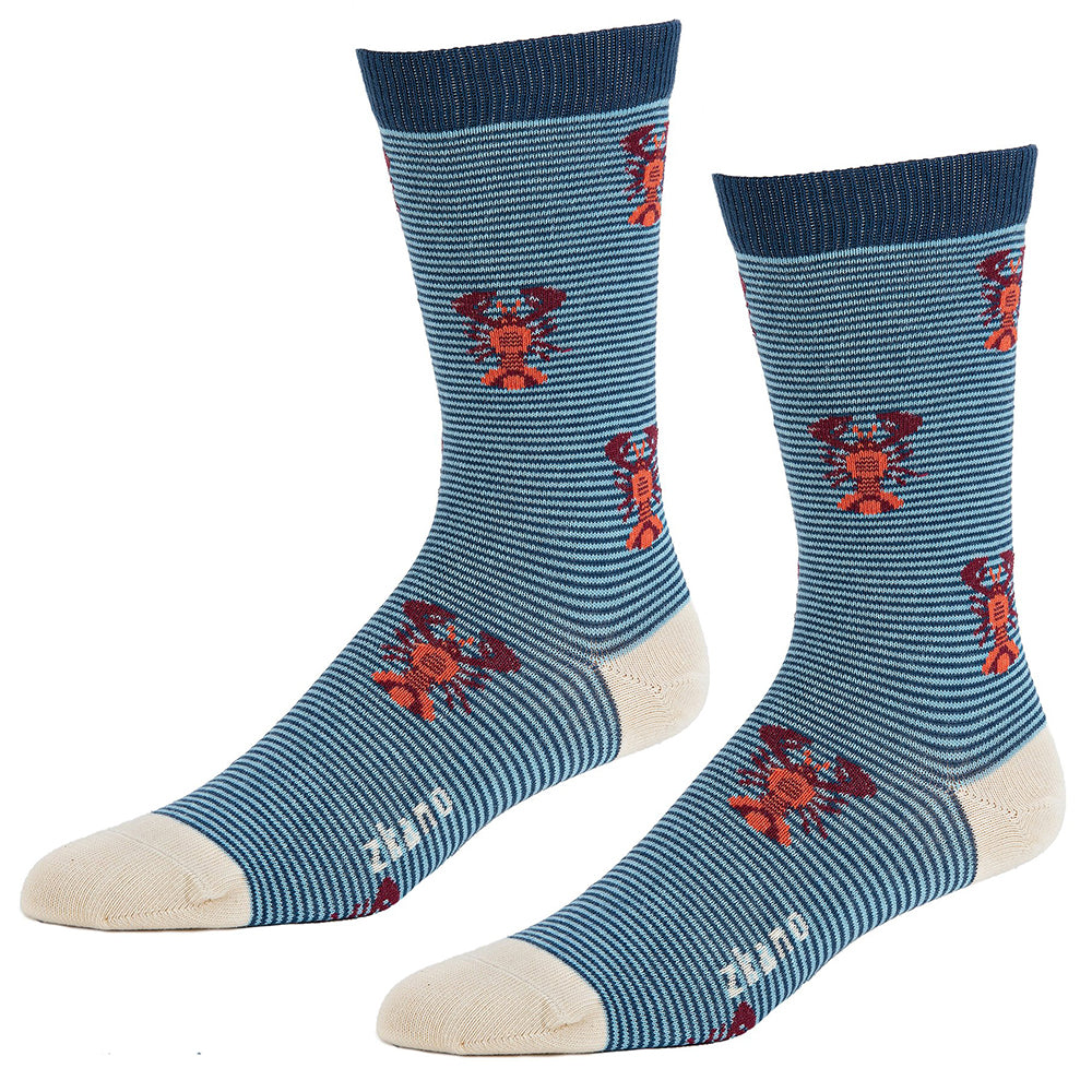 Blue Lobster Pattern Socks