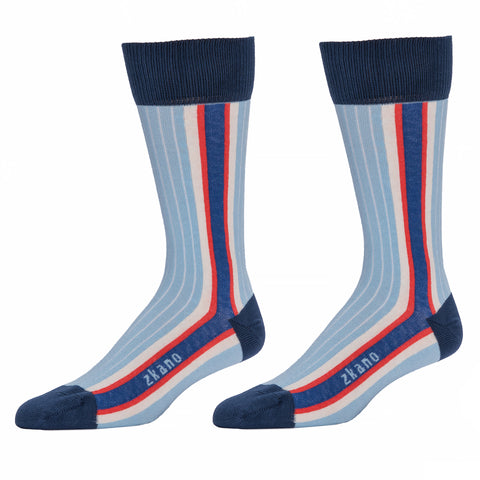 Solid Navy Blue with Mint & Caramel Tipping Socks