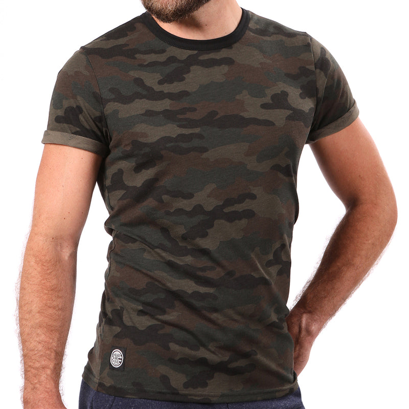 Camouflage Print Short Sleeve Tee - Sizes S, L & XXL Available
