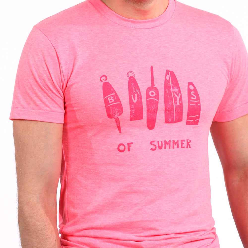 Provincetown Pink Buoys of Summer Tee Shirt