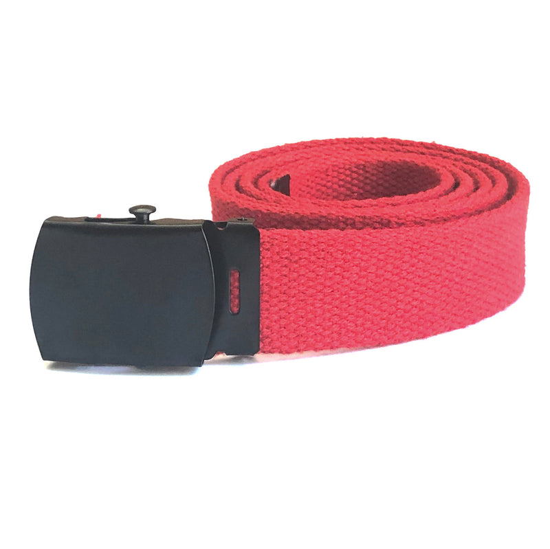 Cherry Red Web Military Belt
