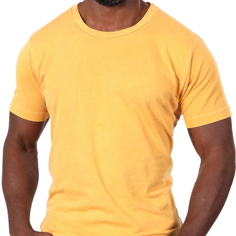 Gold Garment Dyed Cotton Tee - Made in USA