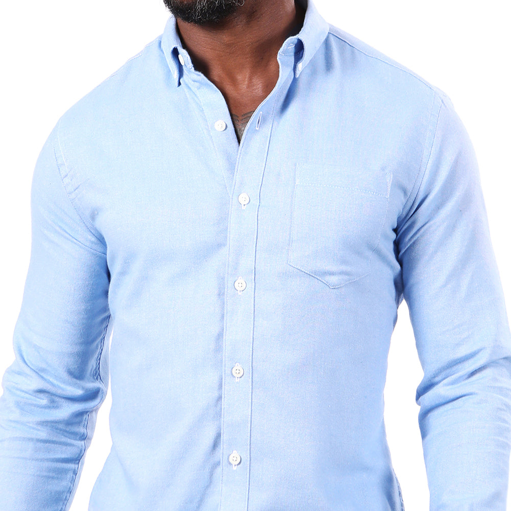 Light Blue Melange Flannel Shirt Shirt