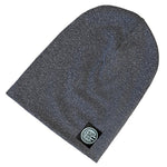 Charcoal Grey Marled Knit Beanie