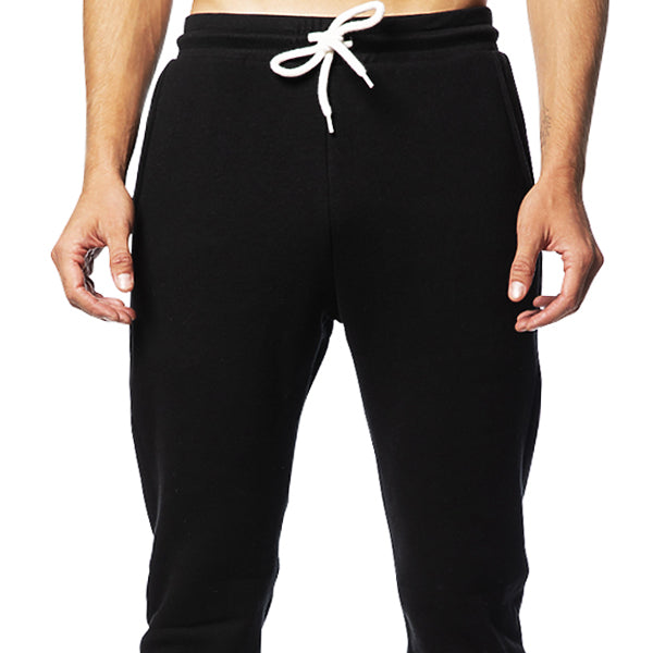 Solid Black Jogger Sweatpants Made in USA