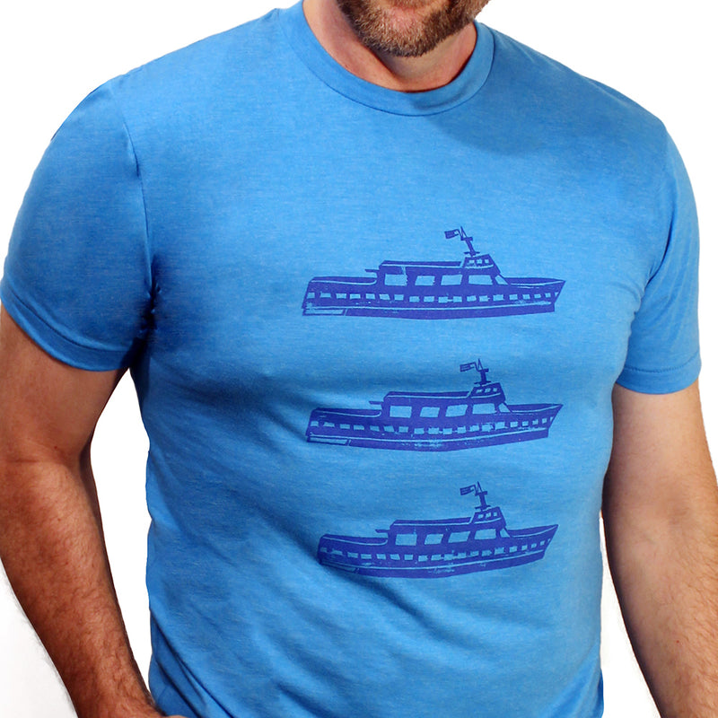 Provincetown Bright Blue Ferries Tee Shirt