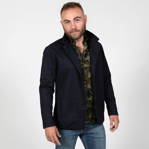 Limited Edition Navy Blue Overdyed Blazer Jacket
