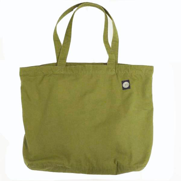 Olive & Blue Plaid Reversible Jumbo Tote Bag
