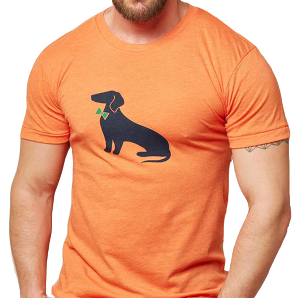 Orange Heather Dachshund Tee