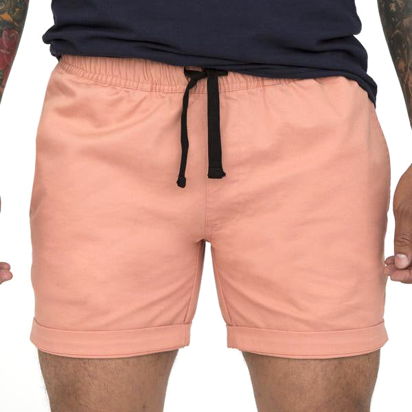 The 'Paradise' Cotton Stretch Twill Short in Pink Size XL Available
