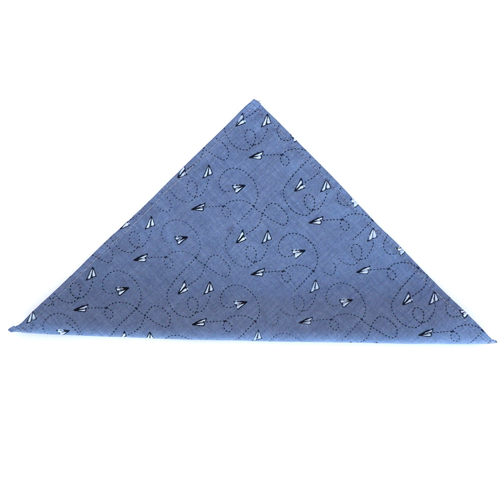 Paper Planes Print Pocket Square