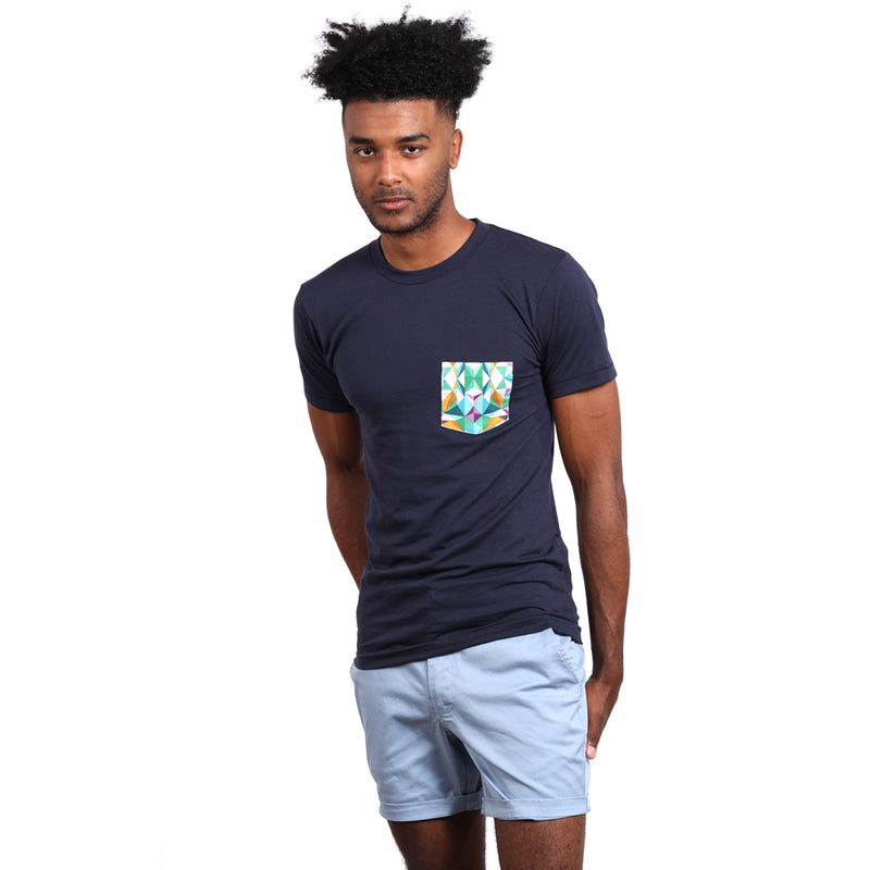 Light Blue Cotton Stretch Twill Shorts