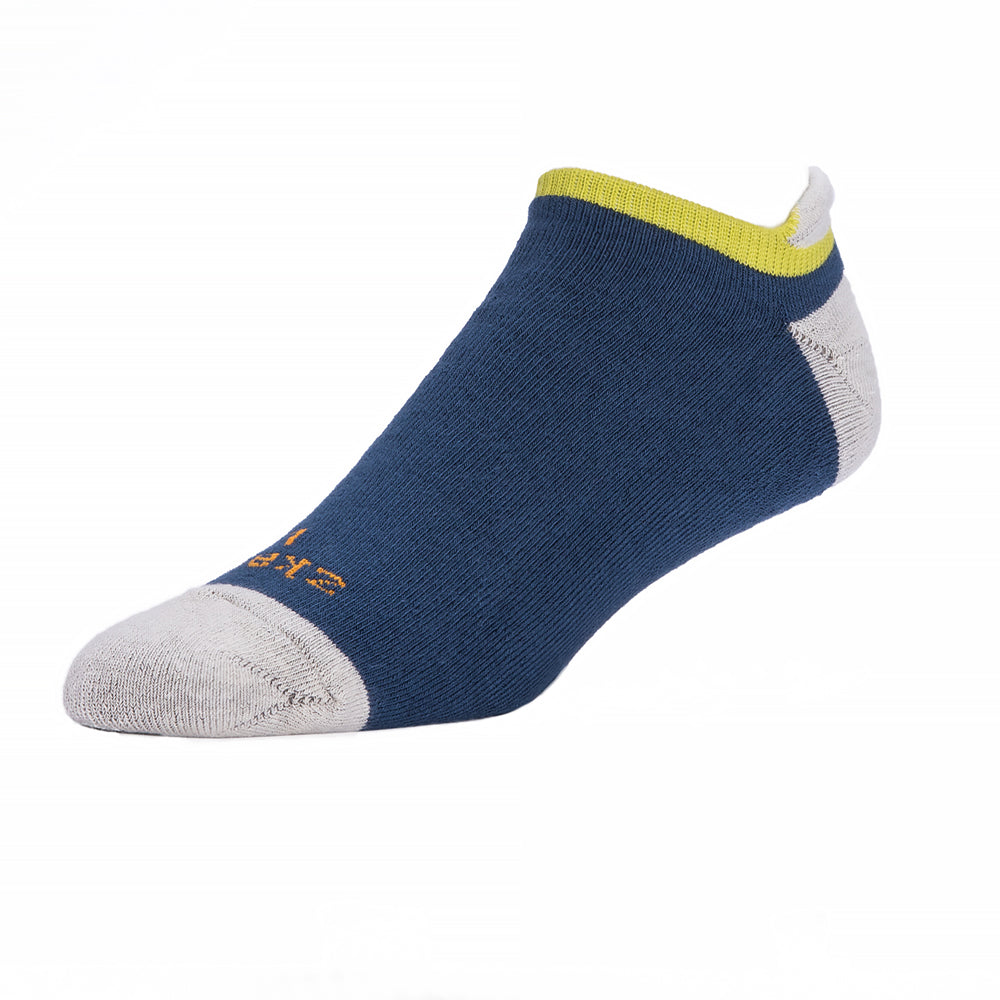 Blue, Grey & Lime No-Show Ped Socks