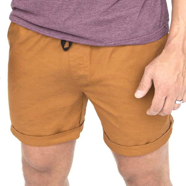 The 'Paradise' Stretch Twill Short in Copper
