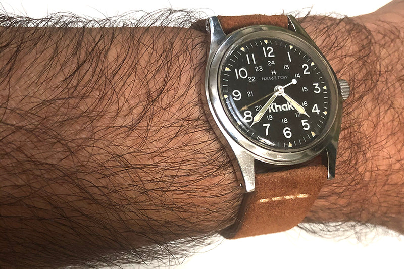 Vintage Hamilton circa 1983 Khaki Military Field Automatic Watch