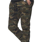 Olive Green Camouflage Jogger Sweatpants - Made in USA