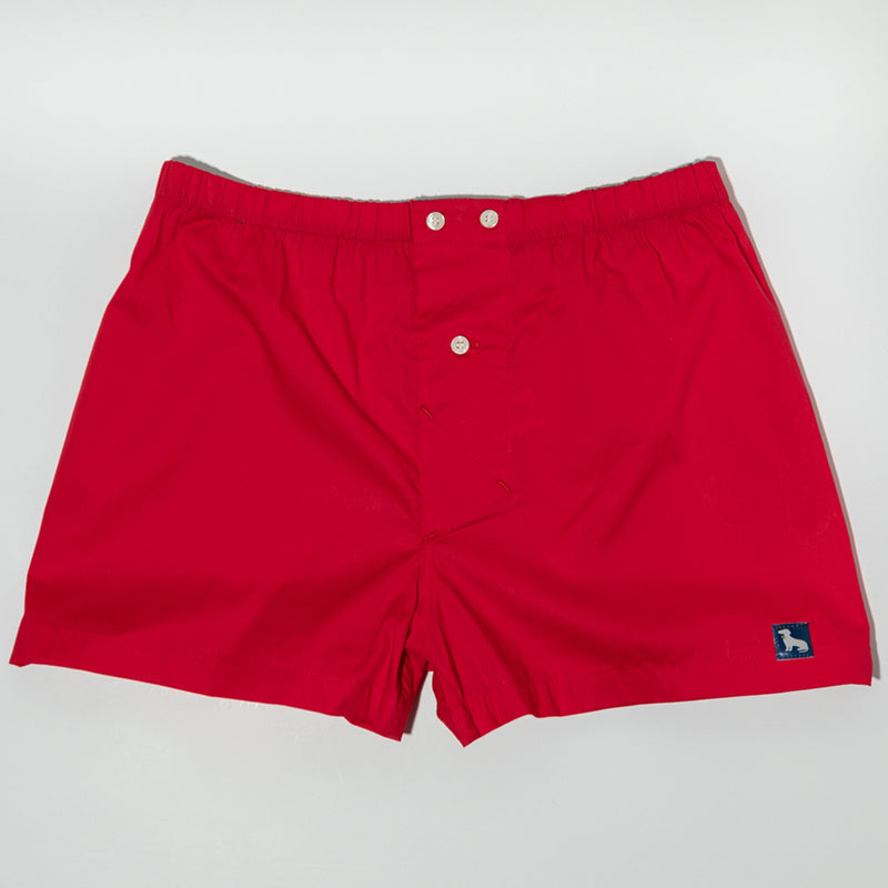 Solid Red Boxer Short - Webster