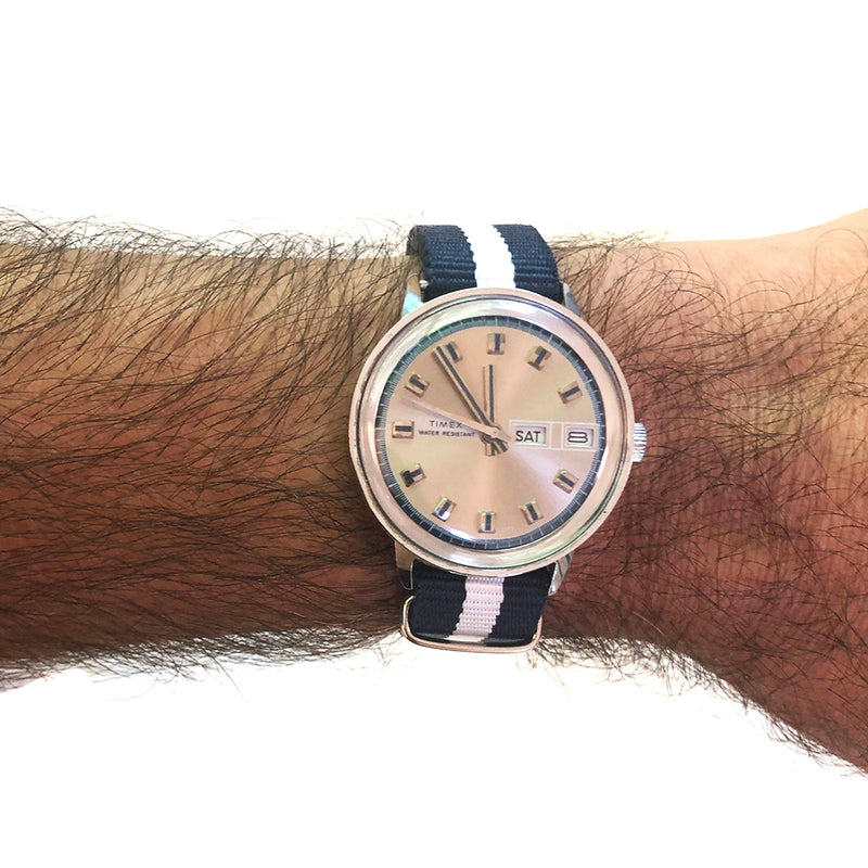 Vintage circa 1973 Timex Mercury Day-Date Automatic Watch