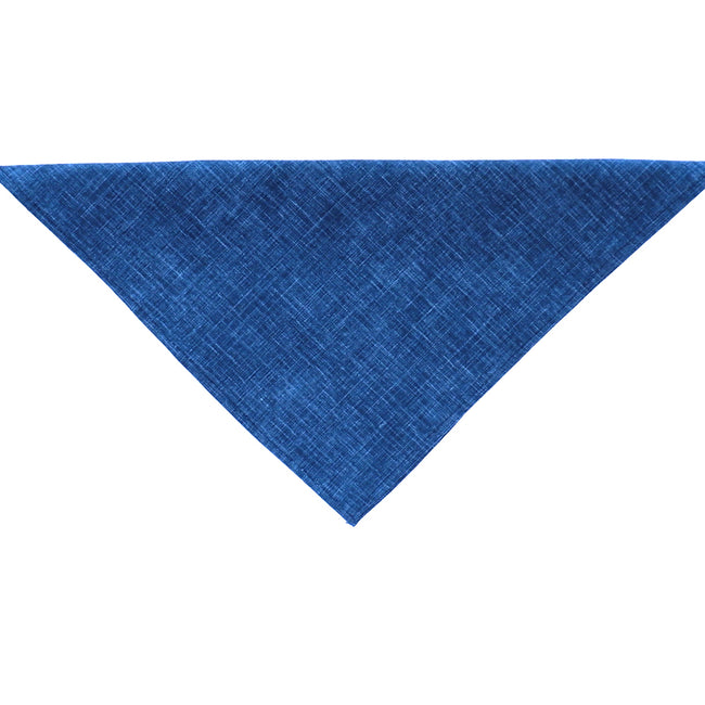 Solid Textured Blue Indigo Cotton Pocket Square